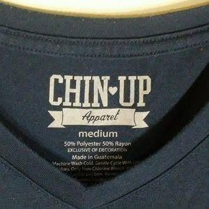 Chin Up Tops - Elephant graphic t-shirt navy size M